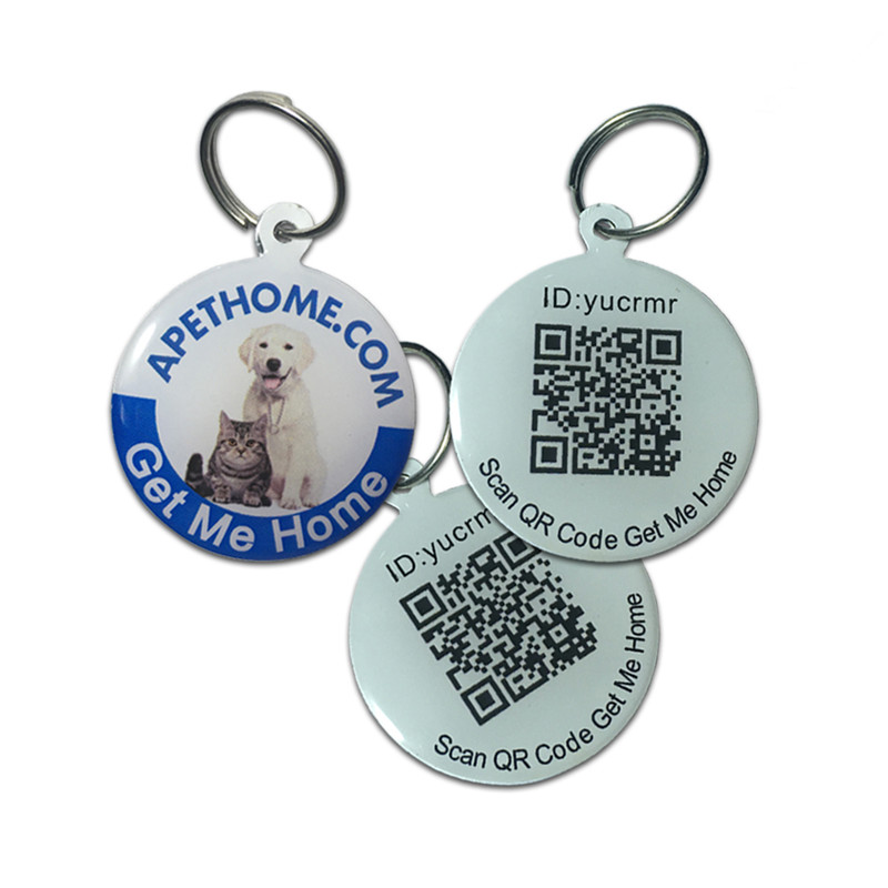 Personalized Dog Tags and Cat Tags Stainless Steel Smart Pet ID Tag QR Code Scanned GPS Location
