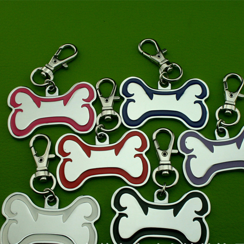 Zinc Alloy Electroplating Pet ID Tags QR Code Protecting Dog or Cat Tag