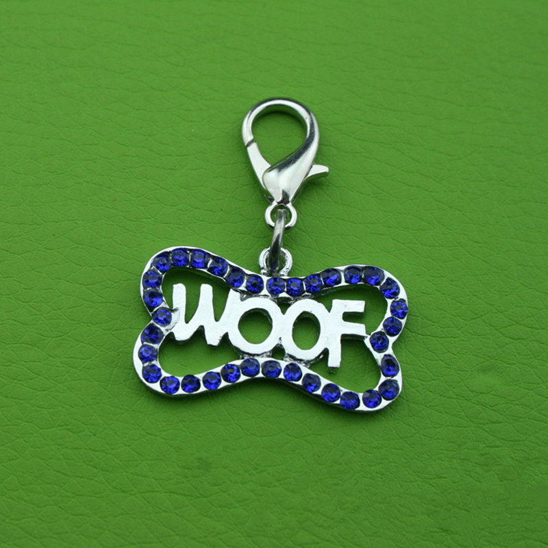 Pet Ornament Accessories Dog Pendant with Drill Dog Bone Pet Tag Decorations